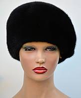 """Женская шапка норковая """"Берет-скос"""", фото 1"""