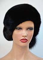 """Женская шапка норковая """"Берет-бубон"""", фото 1"""