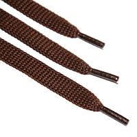 Шнурок 9 мм плоский коричневый 120 см