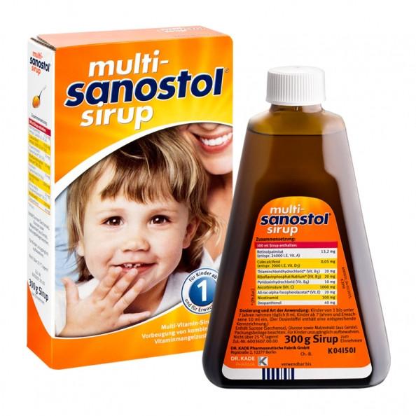 Витаминный сироп для детей от 1 года Multi Sanostol Sirup, 300 г.