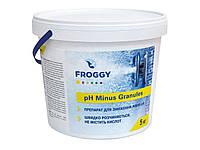 Химия для бассейнов РН- Minus Granules 5кг. (для снижения уровня pH быстро растворяется, не содержит кислот)