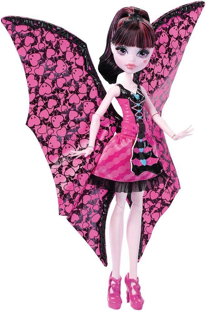 Monster High Дракулаура с платьем трансформером монстр-летучая мышь Ghoul-to-Bat Transformation Draculaura