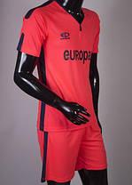 Футбольная форма Europaw 009 розово-т.синяя, фото 2