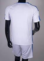Футбольная форма Europaw 009 бело-синяя L, XL, фото 2