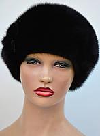 """Женская шапка норковая """"Берет-классический"""", фото 1"""