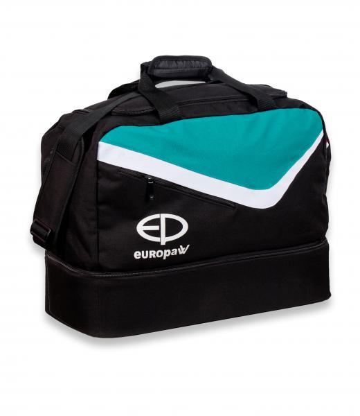 Сумка спортивная Europaw TeamLine черно-зеленая