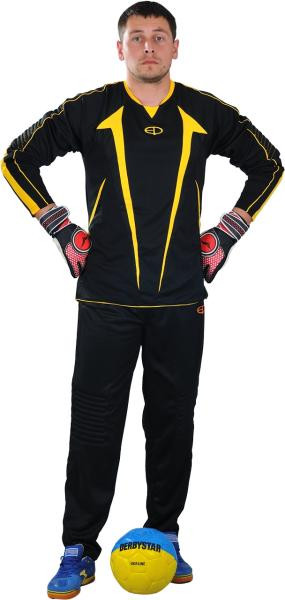 Вратарская форма Europaw черно-желтая 2XL