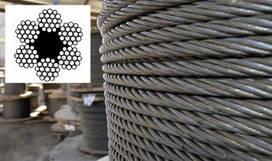 Трос стальной ГОСТ 2688-80 канат двойной свивки тип ЛК-Р конструкции 6 х 19 (1+6+6/6) + 1 о.с. 3,6 мм
