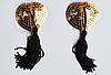 Стикини золотистые с черными кисточками, фото 2
