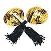 Стикини золотистые с черными кисточками