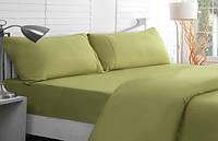 Двуспальное постельное белье оливкового цвета