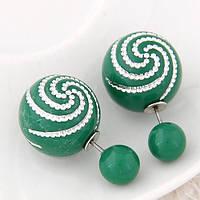Серьги Mise En Dior зеленые