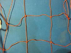 Сетка для ворот гандбол\футзал нейлон оранжевая 203, фото 3