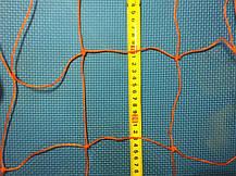 Сетка для ворот гандбол\футзал нейлон оранжевая 203, фото 2