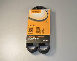 Поліклинові (ручейковий) ремінь на Renault Master II A 01->08 (ALT) — ContiTech (Німеччина) - 6 PK 850