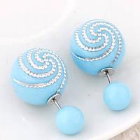 Серьги Mise En Dior светло голубые