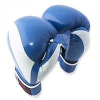 Перчатки боксерские Europaw PVC синие 10 oz