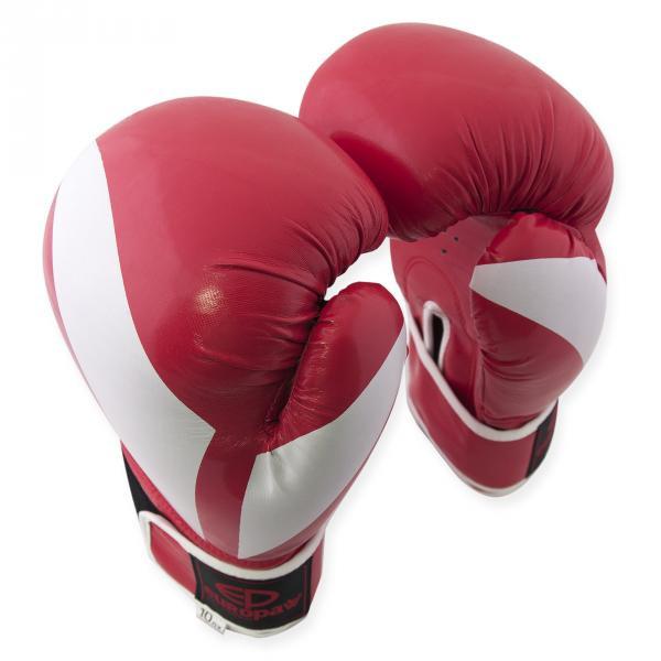 Перчатки боксерские Europaw PVC красные 10 oz