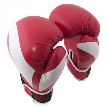 Перчатки боксерские Europaw PVC красные 12 oz, фото 2