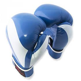 Перчатки боксерские Europaw PVC синие 12 oz