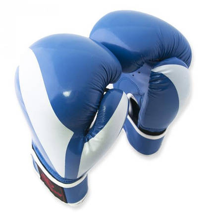 Перчатки боксерские Europaw PVC синие 12 oz, фото 2