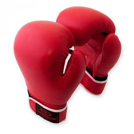 Перчатки боксерские Europaw кожа красные 10 oz, фото 2