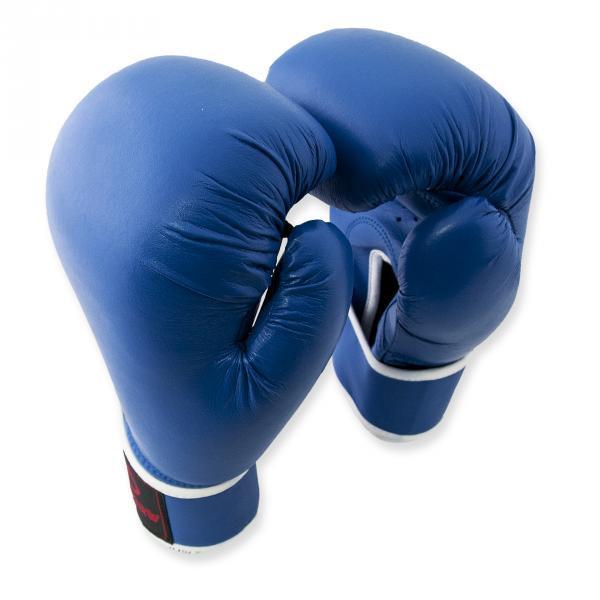 Перчатки боксерские Europaw кожа синие 10 oz