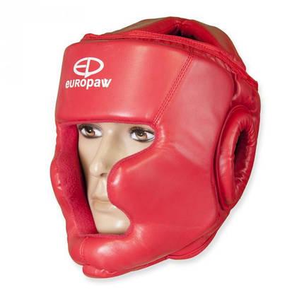 Шлем боксерский Europaw красный, фото 2