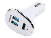 Зарядное устройство REMAX 3USB Car Charger 6.3A белая