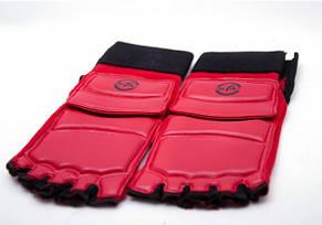 Защита стоп для тхэквондо красные, фото 3