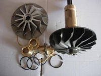 Запчасти к турбокомпрессорам ТКР14Н ТКР14С Ротор ТКР14Н С-718496-09 кольцо С-509199 втулка СТ-155925
