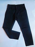 Катоновые синие брюки для мальчика от 6 до 11 лет