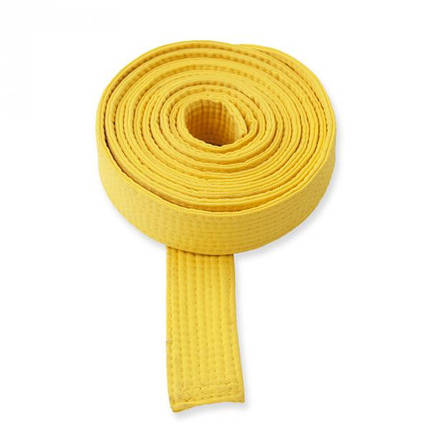 Пояс для каратэ желтый , фото 2