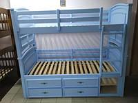 "Двухъярусная кровать ""Шотландец"" (трансформер) 2, 24, 200.0, 190.0, Да, 2, 150, Нет, Да, Да, Да, Украина, Белый, 80.0"