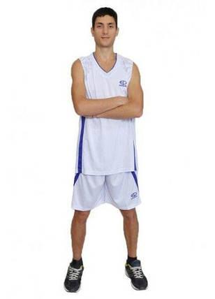 Баскетбольная форма Europaw бело-фиолетовая [XL], фото 2