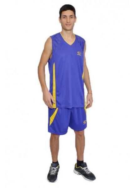 Баскетбольная форма Europaw фиолетово-желтая [XL]