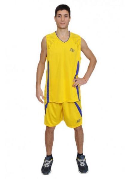 Баскетбольная форма Europaw желто-фиолетовая