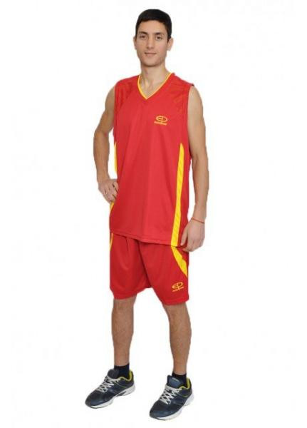 Баскетбольная форма Europaw красно-желтая [M]