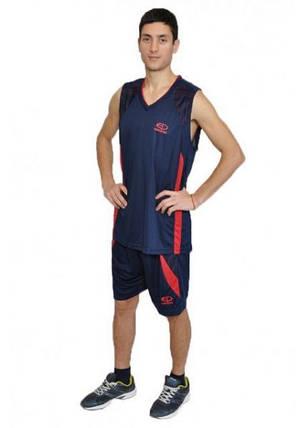 Баскетбольная форма Europaw т.сине-красаня [XL], фото 2