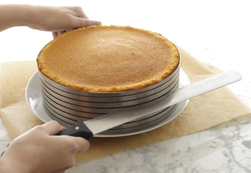 Раздвижное кольцо для нарезания бисквита (Малое)