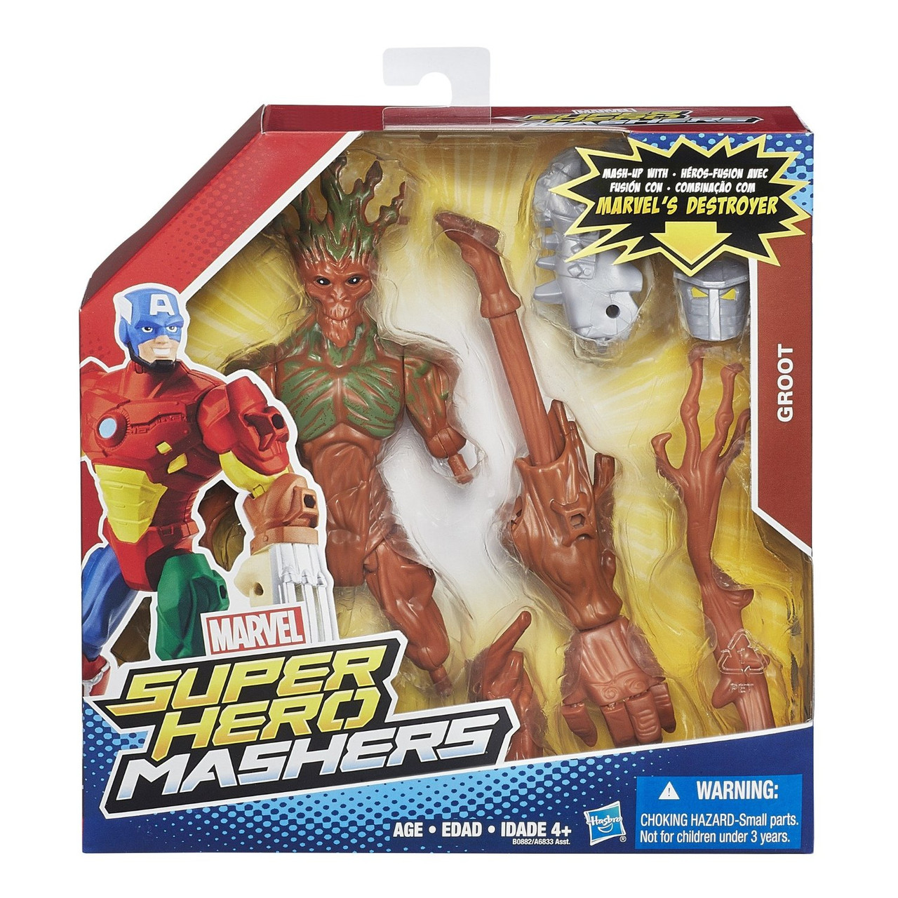 Разборные фигурки супергероев, Грут - Groot, Super Hero Mashers, Marvel, Hasbro