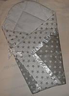 """Конверт на выписку, плед, одеяло на выписку новорожденного """"Звездочки"""", № 2"""