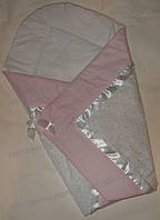 """Конверт-плед-одеяло на выписку новорожденного """"Розовая полоска"""" №2, фото 1"""