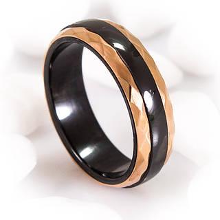 Керамическое кольцо с позолотой