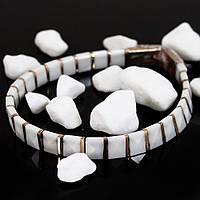 Белый женский керамический браслет (Длина: 18 см)