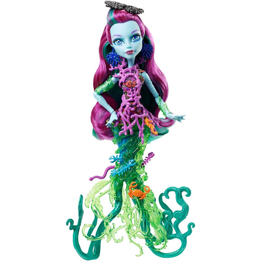 Mattel Monster High Кукла Поси Риф (Posea Reef ) - Большой Кошмарный Риф