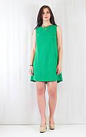 Интересное летнее женское платье со складой и бантиком, украшенное декором
