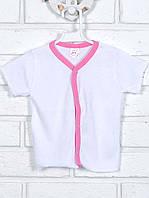 Кофточка детская, белая розовый кант