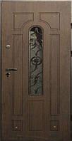 Дверь с МДФ(2 трубы) Арка улица с ковкой 960*2050 мм