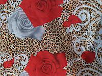 Полиэстер Китай Цветы на Шкуре
